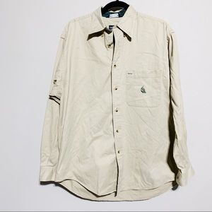 Nautica Shirts - 🛍Nautica Tan Long Sleeve Button Down, Medium